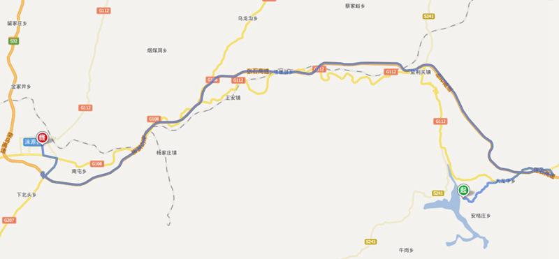 河北白石山风景区地图
